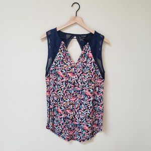 Lucky Brand - Navy Floral Tank Top
